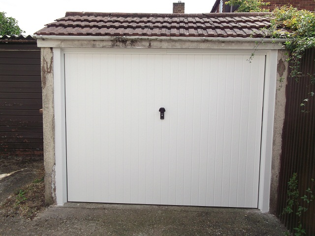 Wessex York 3 crown GRP garage door.