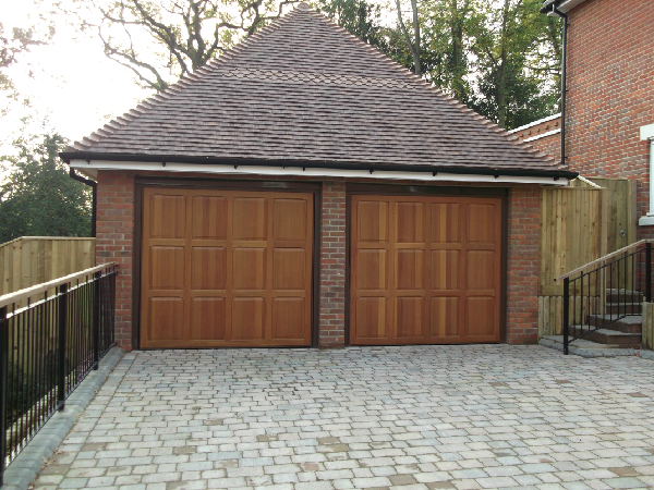 Homann Chesterfield retractable timber garage doors