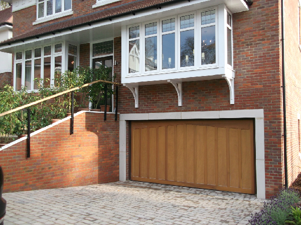 Hormann Tudor retractable timber garage door